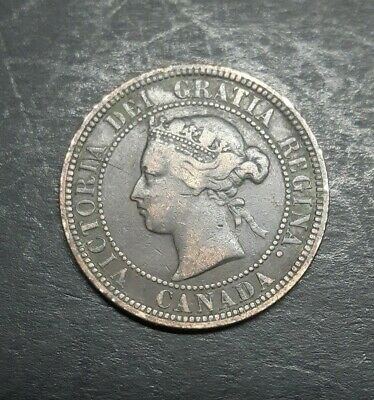 Canada  Large 1 Cent 1876 H