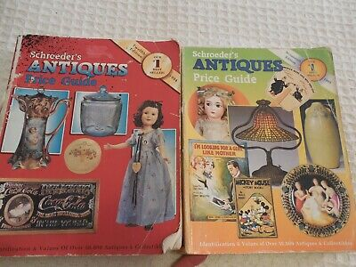 Lot of 2 Schroeder's Antiques Price Guide Twelfth 1994 & Sevententh 1999 Edition