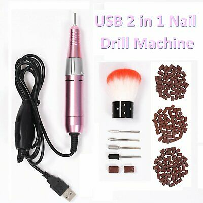 Portable USB Nail Drill File Machine Manicure Pedicure E-Files Electric Nail Art