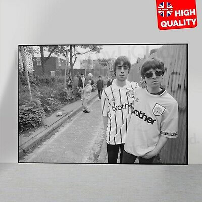 OASIS POSTER Noel & Liam Gallagher Manchester City Photo | A5 A4 A3 A2 A1 |