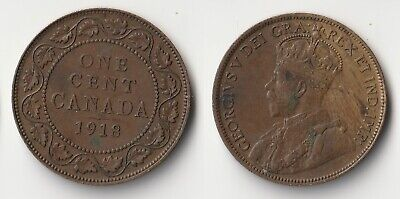 1918 Canada 1 cent coin