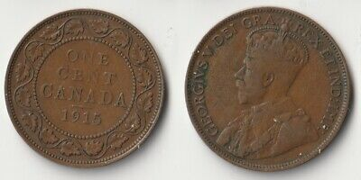 1915 Canada 1 cent coin