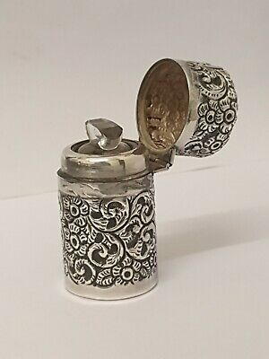 Large Late Victorian Solid Silver Scent Bottle London 1898