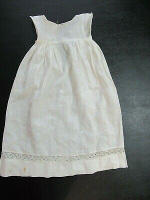 Vintage Antique Lace Trim Cotton Slip for Baby or Doll Handmade