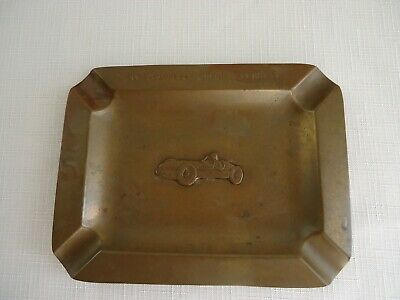 Vintage Bronze Indy 500 1930's/1940's Ashtray Indianapolis Motor Speedway