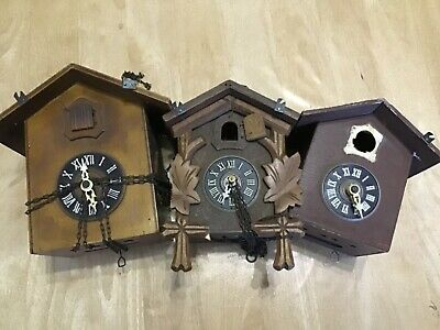 Job Lot Old Cuckoo Clocks for Parts Spares