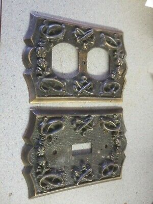 Antique Brass Wall Plates Swith And Plug Outlet