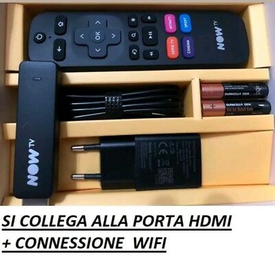2 NOW TV STICK WIFI PER SKY,DAZN,NETFLIX Tramite WIFI NUOVE NO TICKET A 23 EURO
