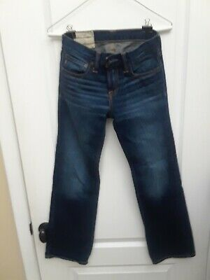 ABERCROMBIE & FITCH Kids 1892 JEANS - boys size 12 - Barely Worn - LOW RISE