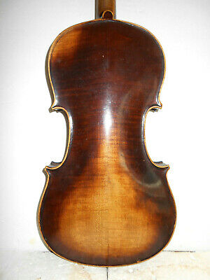 """Vintage Old Antique """"Rigat Rubus"""" 2 Pc.Curly Maple Back Full Size Violin - NR"""