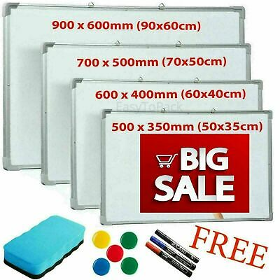 Magnetic Whiteboard Dry Wipe Drawing Board Small Medium Large Office School Home