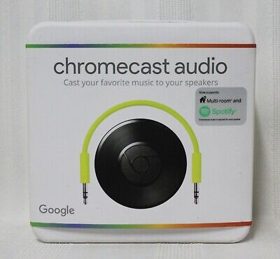 Google Chromecast Audio Media Streamer RUX-J42 - Black