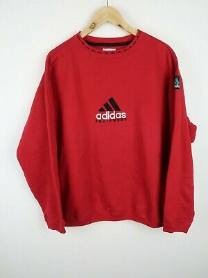 Adidas equipment Vintage 1990s sweatshirt spell out logo red SIZE XL XXL