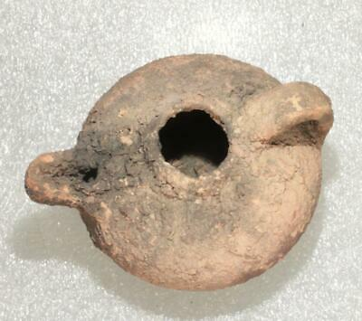 SOLD OUT UNTIL END OF FEBRUARY ceramic oil lamp european roman ca.300-100AD