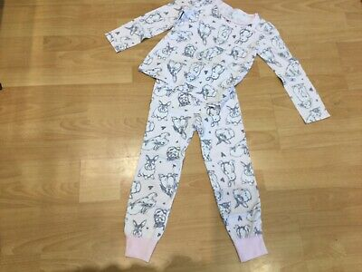 girls next cat and rabbit pyjamas age 5-6 years