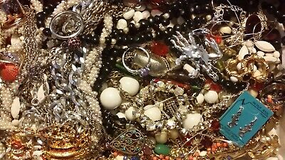 #14 Vintage To Now Estate Find Jewelry Lot Junk Drawer Unsearched Untested Wear