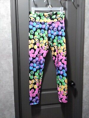 "Justice ""Smiley"" Leggings Size  20  Nwt Bright Colors"