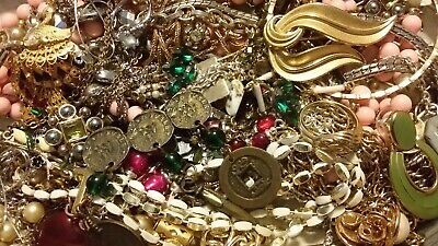 #16 Vintage To Now Estate Find Jewelry Lot Junk Drawer Unsearched Untested Wear