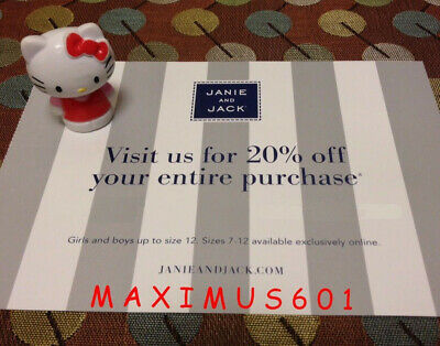 Janie and Jack 20% Off Entire Purchase Coupon Code Expires 5/02/20