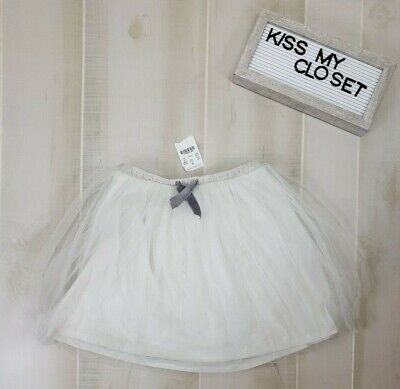 Jcrew Crewcuts Girls Skirt Sz 6/7 Gray Tulle A-Line Lined Tutu NWT