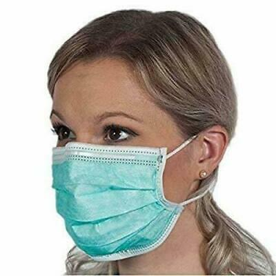 50 Pcs Disposable 3 ply Genuine Surgical Face Mask Blue / Green Virus Protection