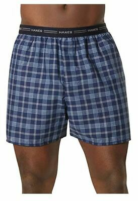 Hanes Men's Yarn Dyed Plaid XL Boxers 4-Pack! Style 841, XL