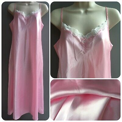 Knee Length Nighty Luxury Glossy Satin Night Dress Lilac Size 14//16 N52