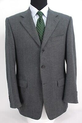 Canali Italy 3Btn Gray Soft Tweed Wool Cashmere Blend Sport Coat Dual Vent 40L