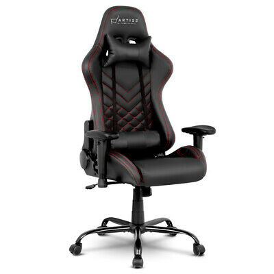 Gaming Office Chair Computer Seating Adjustable Racing Recliner Racer PU with