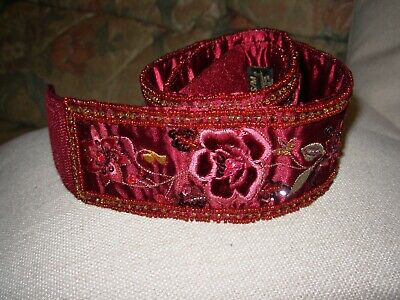 Monsoon Accessorize Fancy Satin Embellished Floral Belt One Size Bnwot