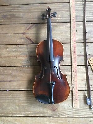 Antique Violin With Case , Friedr, Aug. Glass Antonins Straudiuarius Fies 1737