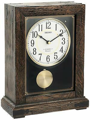 Seiko Japanese Mantle Clock With Pendulum With 12 Hi-Fi Melodies Qxw233Blh New