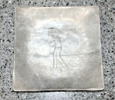 Collectible Wendell August Forge Golfer Hand Made Tray