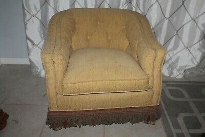 High End Curved Back Chair Fashioned After French Provincial Fully Reupholestere