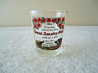 "Vintage Great Smoky Mountains Shot Glass "" BEAUTIFUL COLLECTIBLE ITEM """