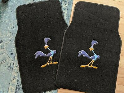 New 2pc Roadrunner Set Car Truck Suv Front Pair of Carpet Floor Mats