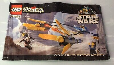 LEGO SET 7131 instruction manual. Star Wars Anakin's Podracer (from 1999)