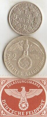 #-10)- *Antique-1906 and WW2-*german  Silver(.900%+.625%) coins/Stamp