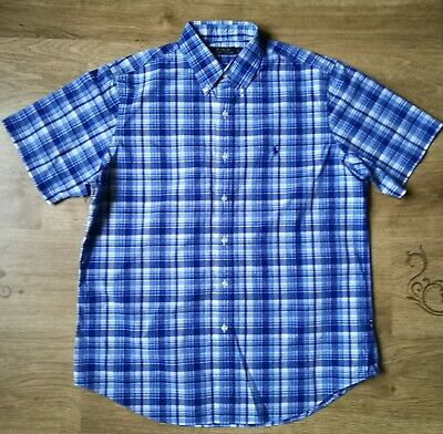 Men's POLO by RALPH LAUREN Short Sleeve Check Shirt, Size L,  VGC !