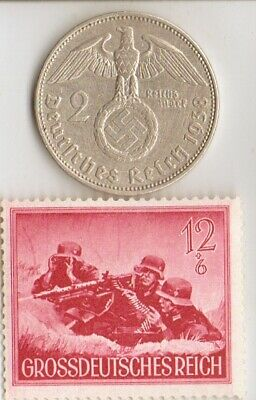 "#-9)-*rare-""SS""-MACHINEGUNNERS commando -STAMP of  WW2-*german and *us -  COINS"