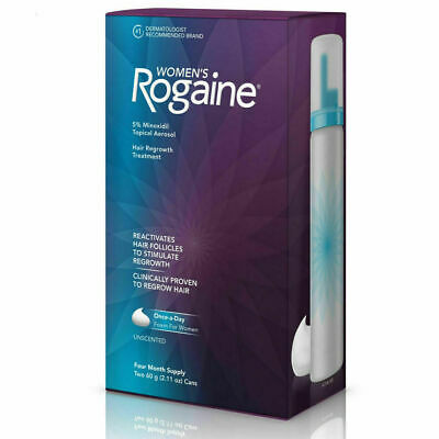 Women's Rogaine 5% Minoxidil Foam for Hair Thinning and Loss, 4-Month Supply