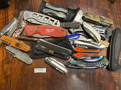 Lot of 20+ TSA Confiscated Pocket Knives  Various Brands Small Flat Rate Full!!!