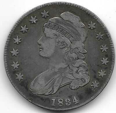 1834 Small Date, Stars & Letters Capped Bust Half Dollar
