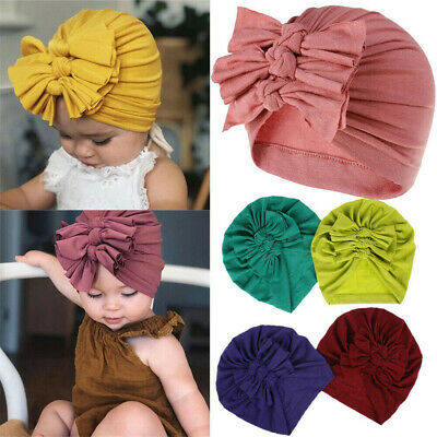 Newborn Headband Hat Cotton Baby Infant Turban Knot Headband Head Wrap Headwear