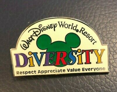 walt disney world trading pin resort DIVERSITY rainbow letters rights vintage