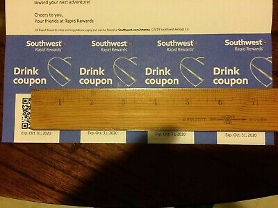 southwest drink coupons 4 - expires oct 31, 2020