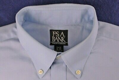 JOS A BANK classic light blue TRAVELERS COLLECTION slim fit dress shirt 16-33