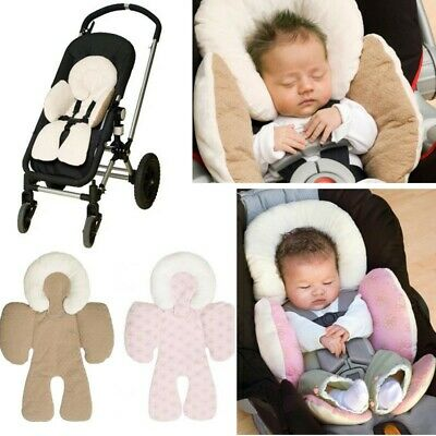 Baby Newborn Car Seat Stroller Cushion Pad Liner Mat Head Body Support Pillow