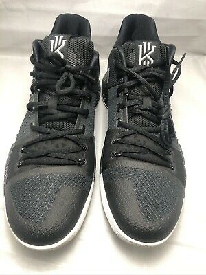 Nike Kyrie 3 III Irving Black Ice Metallic Silver White 852395-018 Men's Sz 12