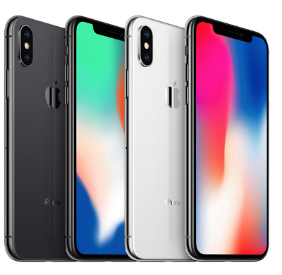 Apple iPhone X - 64GB 256GB (Space Gray/ Silver) Unlocked  4G LTE Smartphone